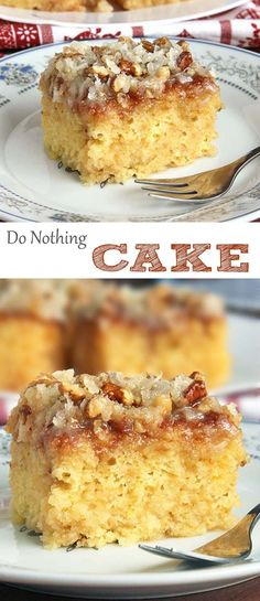 This cake is not only made from scratch but so ridiculously easy to make!