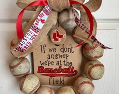We're At the Baseball Field Wreath
