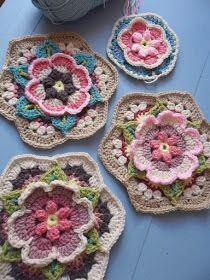 Watch The Video Splendid Crochet a Puff Flower Ideas. Phenomenal Crochet a Puff Flower Ideas. Crochet Blocks, Granny Square Crochet Pattern, Crochet Flower Patterns, Afghan Crochet Patterns, Crochet Squares, Crochet Motif, Crochet Yarn, Crochet Flowers, Crochet Stitches