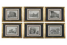 Roman Monuments Engravings, Set of 6 on OneKingsLane.com