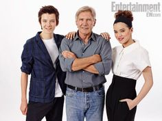 """""""Asa Butterfield, Harrison Ford, and Hailee Steinfeld, Ender's Game"""" Comic Con 2013 Day 1 photos / Entertainment Weekly"""