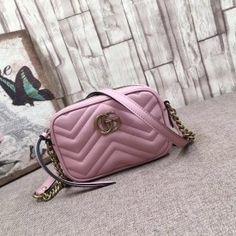 Gucci GG Marmont matelassé mini bag light pink 448065