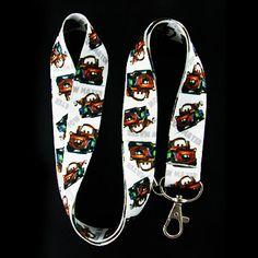 Cars Movie Cars Mater Lanyard Keychain Badge Holder Black | Balli Gifts
