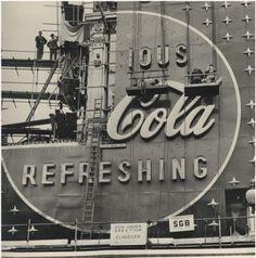 Coca-Cola Neon Sign, London 1954