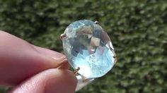 Aquamarine 7.81ct  22ct Gold Ring