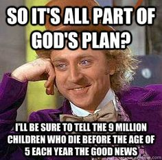 All part of god's plan?