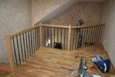 conception et r alisation par notre client d 39 une rampe d 39 escalier fer forg et bois fabrication. Black Bedroom Furniture Sets. Home Design Ideas