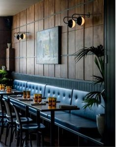 restaurant deko 16 Ideas For Wall Paneling Restaurant Bar Designs Restaurant Seating, Rustic Restaurant, Restaurant Concept, Bar Seating, Ambiance Restaurant, Restaurant Entrance, Restaurant Restaurant, Luxury Restaurant, Pub Interior