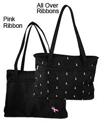 Pink Ribbon Microfiber Bag at The Breast Cancer Site