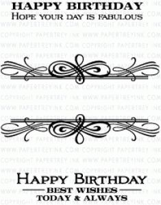 PTI Boutique Borders: Birthday Mini Stamp Set 2642