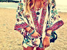 boho my zara kimono Hippie Style, Ethno Style, Fashion Moda, Kimono Fashion, Boho Fashion, Colorful Fashion, Look Kimono, Kimono Jacket, Kimono Style