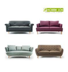Modern log design sofa in PU