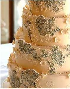 #cake #wedding - this is a bit too fancy for our wedding, but i want to pin it anyway, because it looks amazing.
