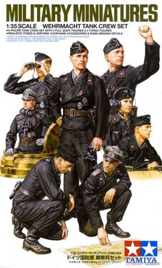 German Wehrmacht Tank Crew Set (without tank) 35354 Model Building Kits, Model Kits, German Uniforms, Body Figure, Tamiya, Call Of Duty, Box Art, World War, Movie Tv