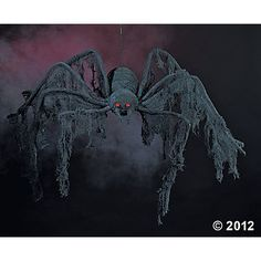 Halloween Decoration - Giant Creepy Cloth Spider - Extends 4 Feet by WD - Halloween & Christmas Shop Halloween Prop, Halloween Spider Decorations, Haunted House Decorations, Halloween Haunted Houses, Halloween Home Decor, Outdoor Halloween, Halloween Ideas, Outdoor Decorations, Halloween Stuff