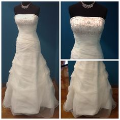 Our Dress of the Week - a fit and flair size 10 wedding dress by Moonlight.