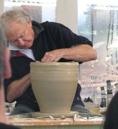 Pics of Chester Nealie pots from his workshop June 2010 Pottery Studio, Ceramic Clay, Chester, Pots, Tube, Workshop, Artists, Ceramics, Glass