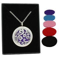 AromaRain offers premium quality essential oil jewelry. View images of our unique designs of affordable diffuser necklace and bracelet aromatherapy jewelry.