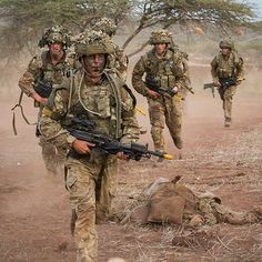Troop on exercise in Kenya - I think! Sent in Anonymous -[] Partner