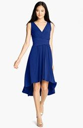 Pleated Front V-Neck Dress
