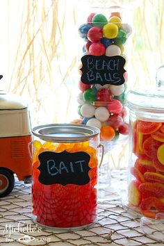 Fun ideas for candy at a Hello Summer Surf Party found via Kara's Party Ideas | KarasPartyIdeas.com