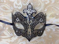 "Black ""Sexy"" Metal Laser Cut Venetian Masquerade Mardi Gras Halloween Mask | eBay"