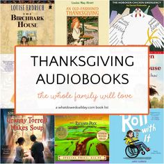 Best Thanksgiving audiobooks for families. List features traditional Thanksgiving stories, as well as books with the themes of friendship, family, forgiveness and immigration. Thanksgiving Stories, Thanksgiving Traditions, Louise Erdrich, Put Things Into Perspective, Birch Bark, Book Lists, New Friends, True Stories, Forgiveness