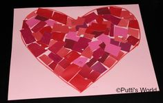 Heart Mosaics - Kids Valentine Craft ~ Putti's World-kids-activities