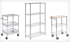 Groupon - Four-Tier Chrome Storage Shelves or Three-Tier or Two-Shelf Chrome Urban Rolling Cart (Up to 54% Off). Free Shipping. in Online Deal. Groupon deal price: $59.00