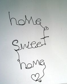 Hey, I found this really awesome Etsy listing at https://www.etsy.com/listing/170969291/home-sweet-home-wire-word-hanging