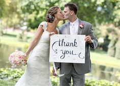 Thank You Signs for your Wedding