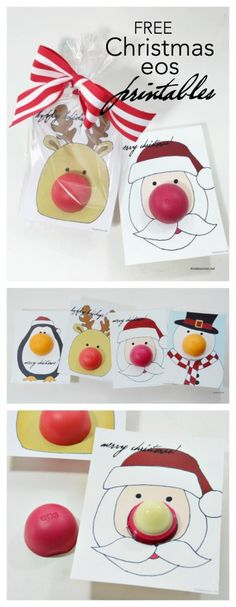 Christmas | Free printable eos Christmas Gifts or stocking stuffers for your friends, family and teachers. So easy to make and so fun for someone who loves eos. MichaelsMakers The Idea Room