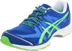 ASICS Mens GELDS Racer 9 Running ShoeBlueNeon GreenWhite105 M US * Want to know more, click on the image.(This is an Amazon affiliate link and I receive a commission for the sales)