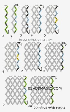 Embellishing netting beading techniques from fusion beads seed bead tutorials by – Artofit Beaded Necklace Patterns, Beaded Jewelry Designs, Bead Jewellery, Seed Bead Jewelry, Beaded Bracelets, Diy Jewelry, Jewelry Ideas, Embroidery Bracelets, Handmade Jewelry
