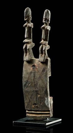 Africa   Door lock from the Dogon people of Mali   Wood   The latch is missing