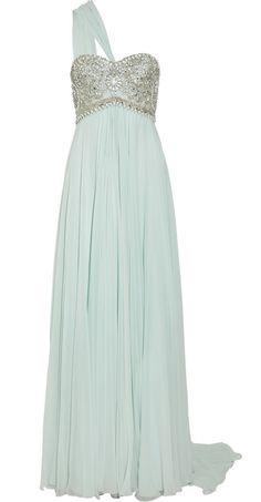 Beautiful Ice Blue Beaded Dress