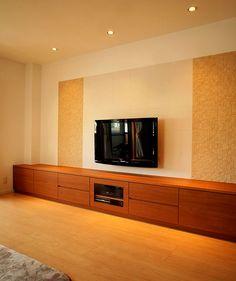テレビボード エコカラット Kitchen Furniture, Diy Furniture, Furniture Design, Tv Unit Design, Interior Decorating, Interior Design, Home Theater, Building A House, Bookcase