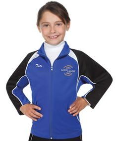 Zoe Cheer Apex Poly Tricot Cheerleading Warmup Jackets in Women and Youth Sizes