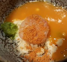 Tartar de quisquilla crema de calabaza y naranja con molletes en el taller de @joaquin_baeza_rufete en @fierrovlc