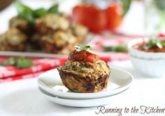 Mini Chicken Parmesan Muffins from Running to the Kitchen.  Check these out!