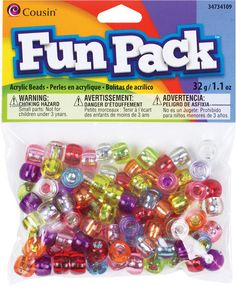 assorted colors silver lined pony bead mix