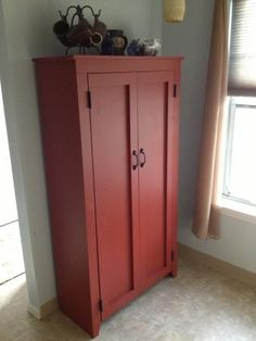 Kitchen Cabinet | Do It Yourself Home Projects from Ana White. Click on link Patrick's jelly cupboard for plans and other versions.