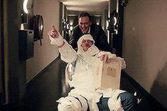 [Tom] has miraculous powers. He's like Jesus. - Luke Evans. Gif-set (by cheers-mrhiddleston): http://cheers-mrhiddleston.tumblr.com/post/151900560505/cheers-mrhiddleston-tom-has-miraculous