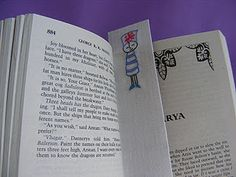 gift idea: how to make a fabric bookmark w/ fusible adhesive