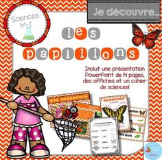 French Butterflies science unit/ Les papillons {sciences} Grade 2 Science, French Resources, Chenille, Techno, Kindergarten, Homeschool, Butterfly, The Unit, Education