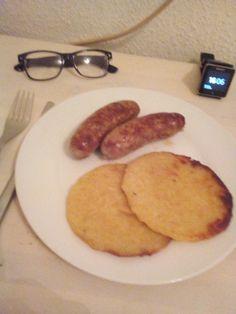 Bratwürste mit Reibekuchen, Mahlzeit 😎