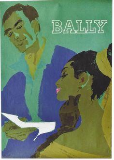 Original vintage poster BALLY LADIES SHOES JET SET 1964   eBay