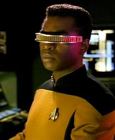 "This week, Todd and Joe boldly go where no one has gone before (except many, many Trekkies) as they discuss Geordi LaForge in the Star Trek: The Next Generation episode ""I, Borg."""