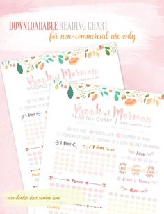 Printables: Book of Mormon Free Downloadable Reading Chart - Young WomenWill be making one for OT and NT soon!