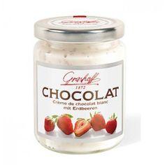 Crema de chocolate belga blanco con fresas... simplemente espectacular!